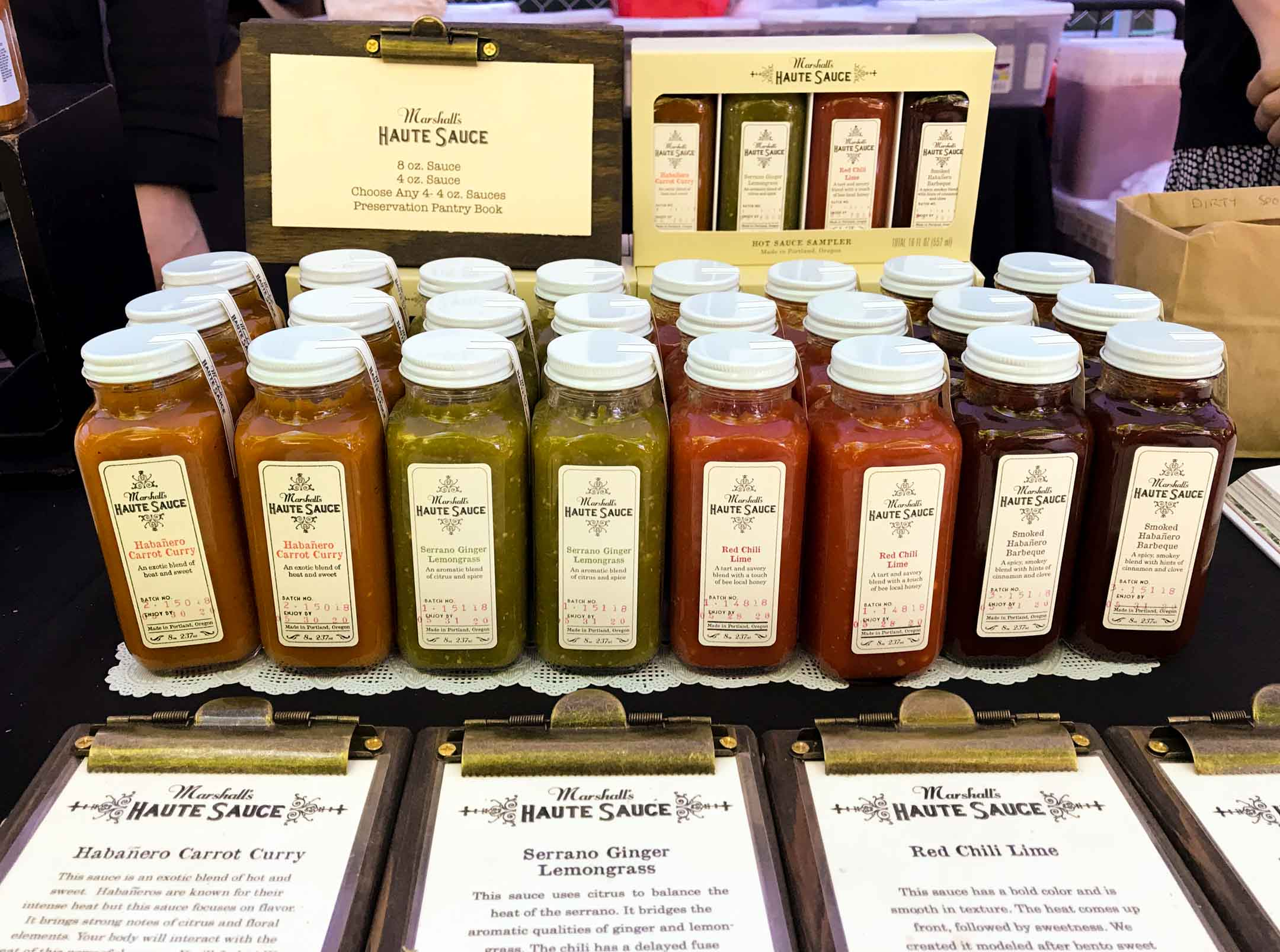 Haute! Haute! Haute! Marshall's Haute Sauces at the Portland Farmer's Market